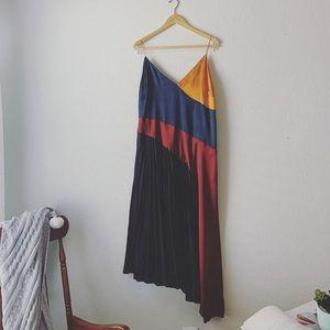 ASOS | Black Color Block Asymmetrical Dress